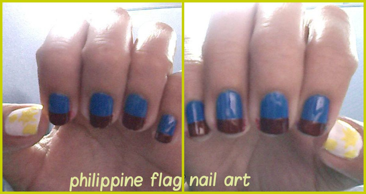 A Simple Philippine Flag Nail Art Nail Art Designs Pinterest