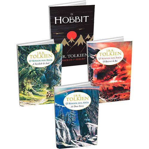 Kit Livros - Coleção Senhor dos Anéis + Hobbit Edição Comemorativa 75 anos