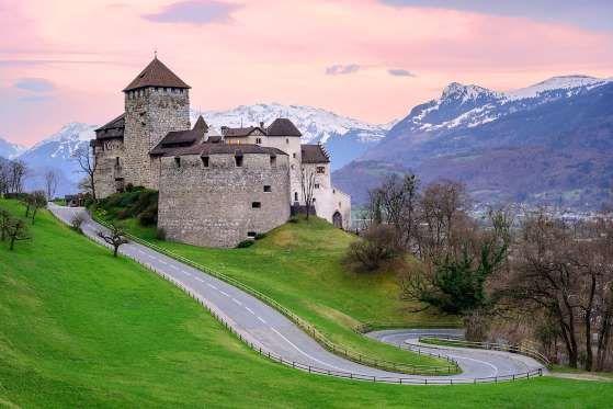 Vaduz Castle in Liechtenstein. Liechtenstein is a small underrated country between Austria and Switzerland.