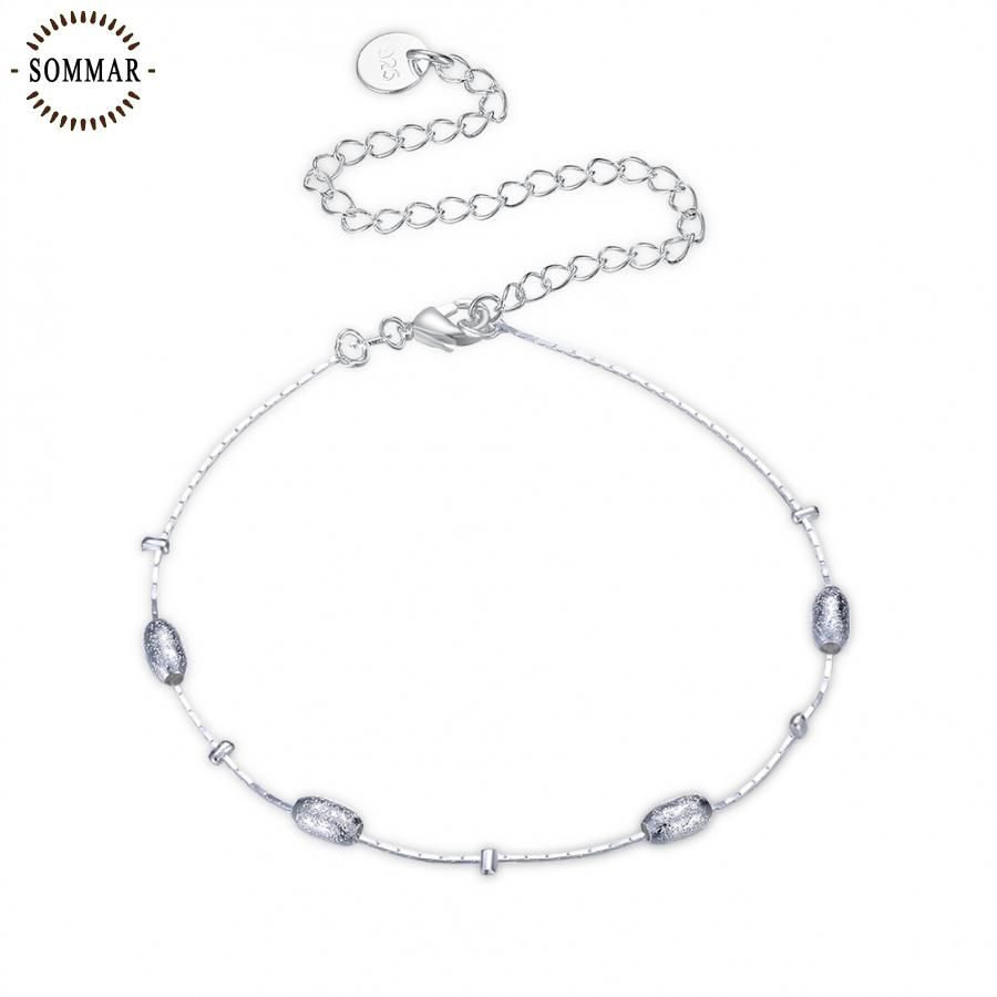 Click to buy ucuc fashion design silver plated bracelet anklets cm