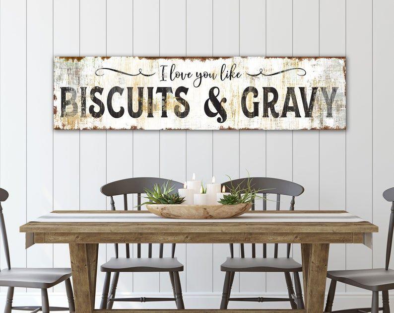 Farmhouse Kitchen Wall Decor Rustic Chic I Love You Like