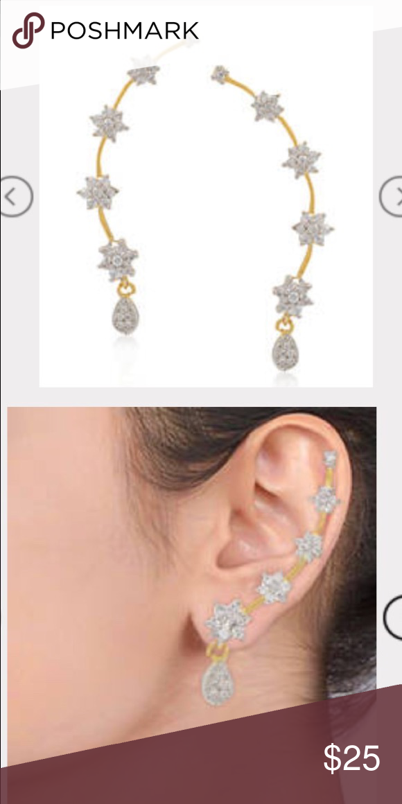 826d2eee72d9f NEW Multicolor Crystal Ear Cuffs(NEW pics!) New gold Ear Cuffs. From ...