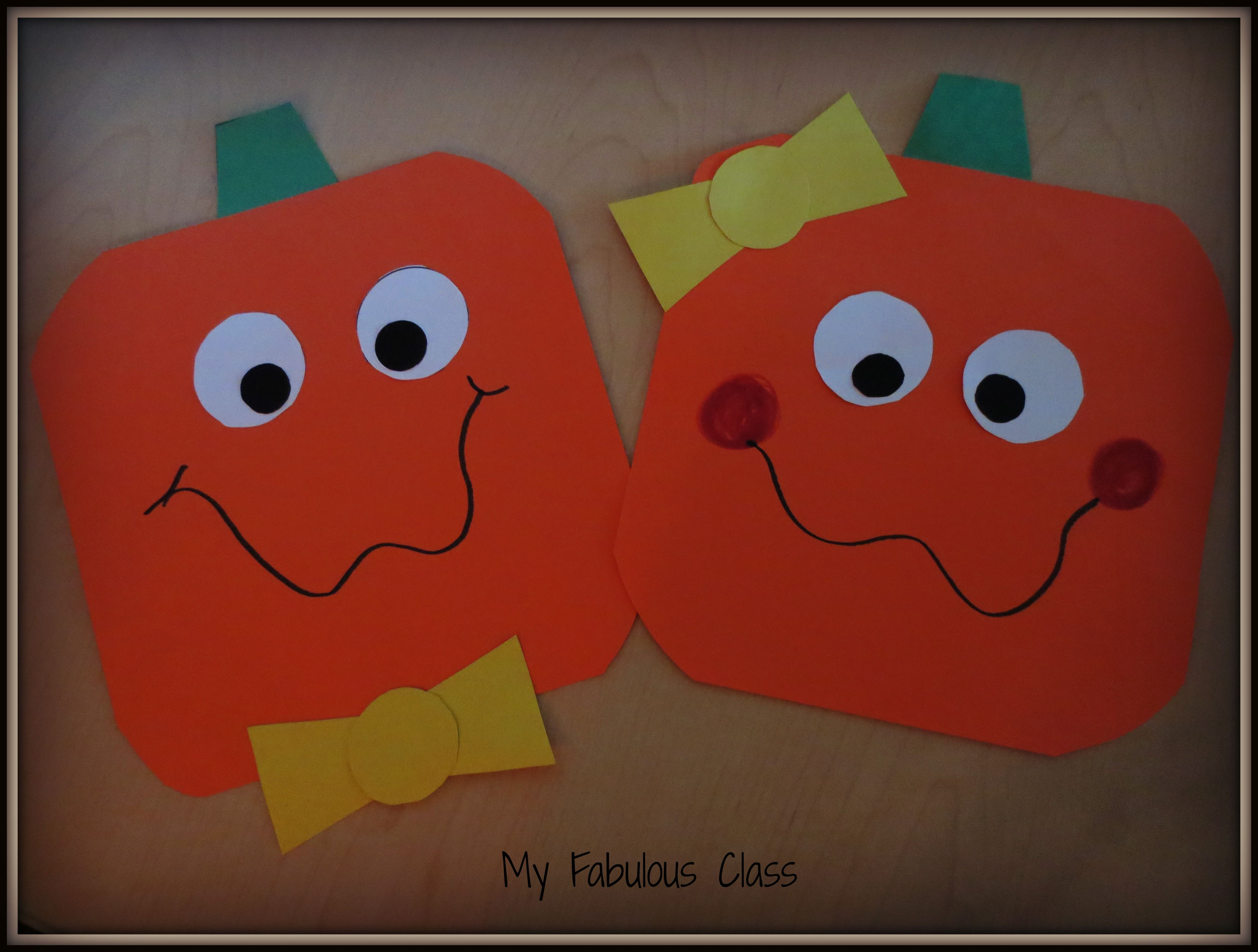 free craft for spookley the square pumpkin november creations