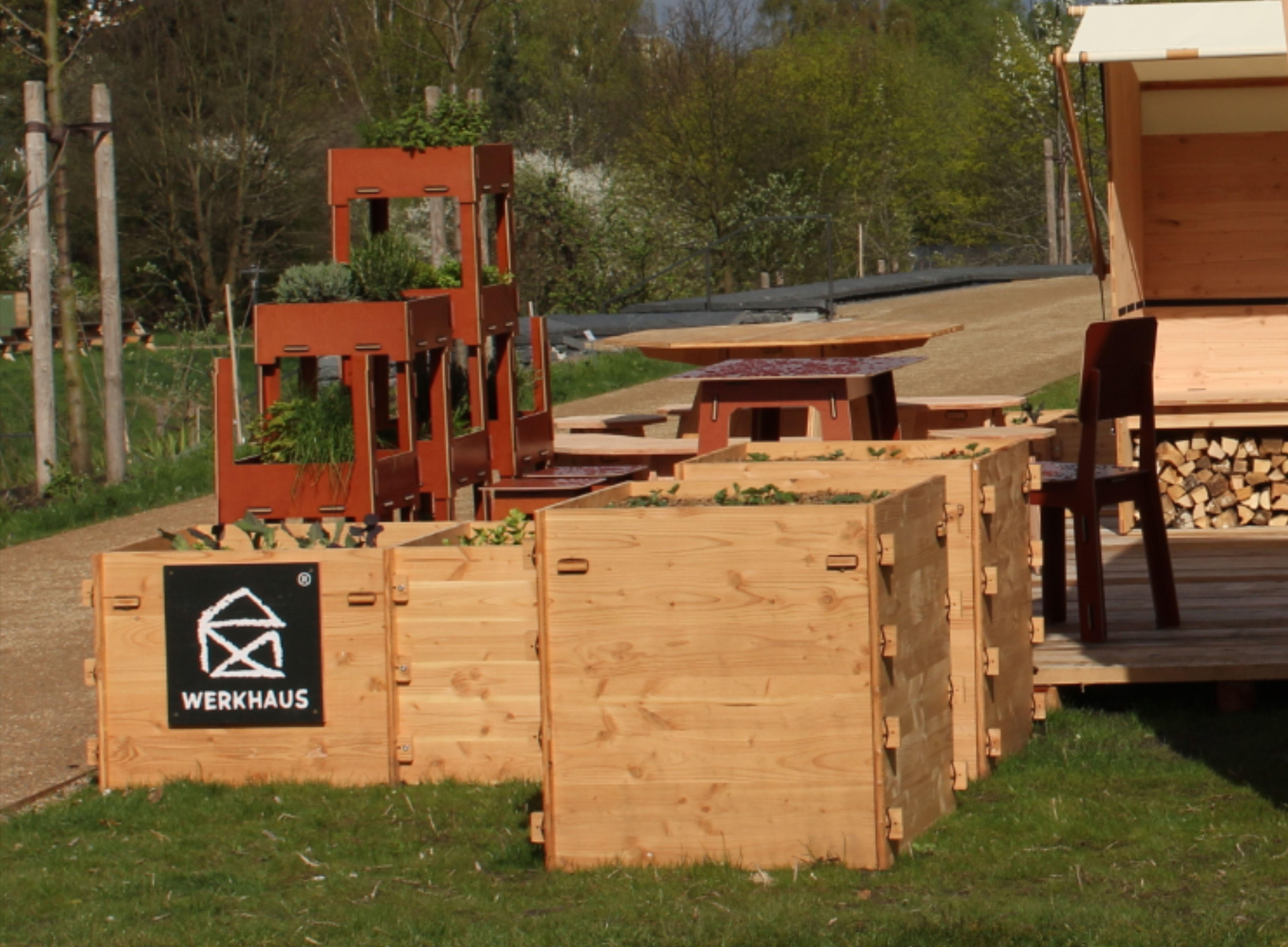 Individuelles Hochbeet Mit Stecksystem In 2020 Hochbeet Hochgarten Werkhaus