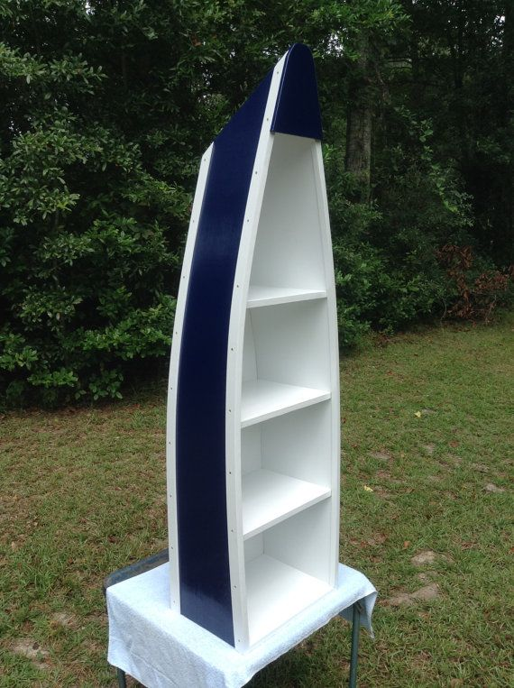 5 Foot Boat Bookshelf Canoe Bookcase Nautical Boat Shelves Home