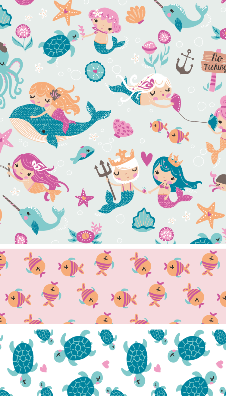 Mad About Mermaids At Jo Ann Stores Wallpaper Mermaid