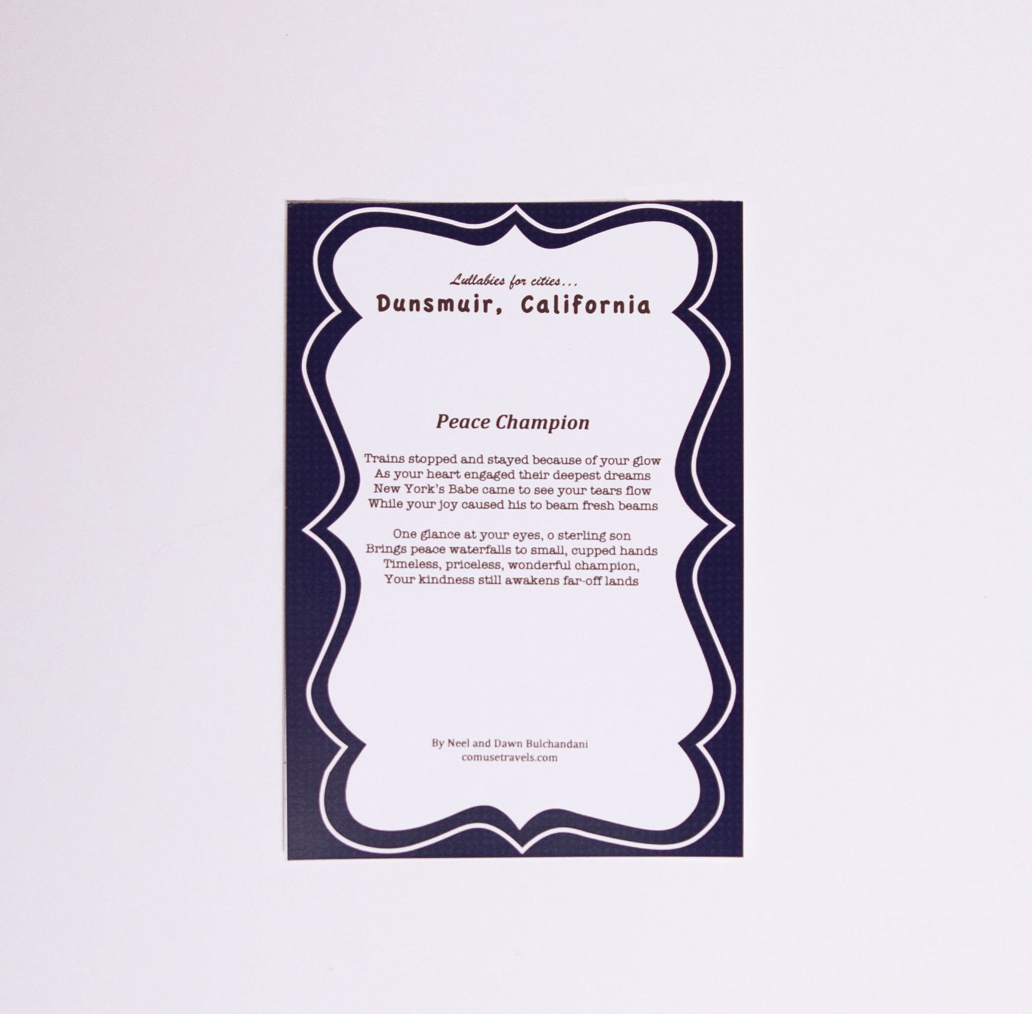 Gold color cardstock paper 5x7 - Dunsmuir California Poem Comuse 5x7 Print On Thick Cardstock Frame Not