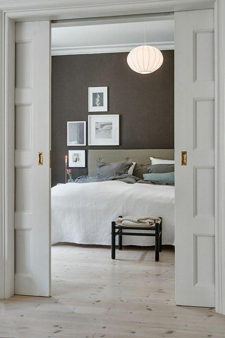 Wandgestaltung Mit Farbe Schlafzimmer Wandfarbe Braun  #GreatHomeDecorIdeasForTheBedroom