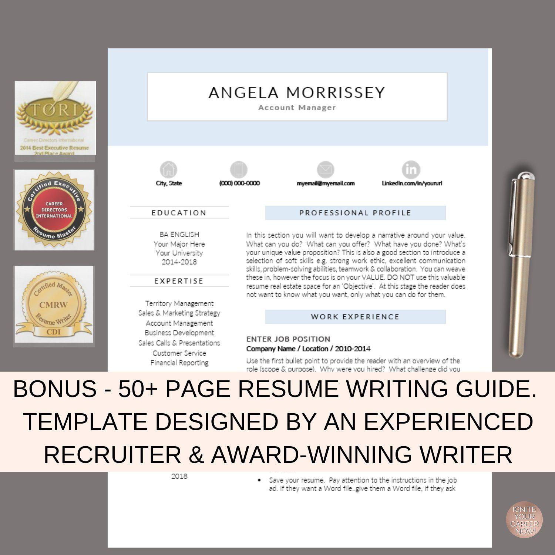 Resume Template, CV Template, CV Design, Office Manager