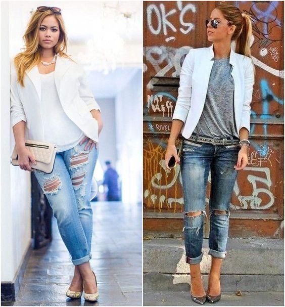 Inspiração: Blazer branco | Blazer branco feminino, Pano e