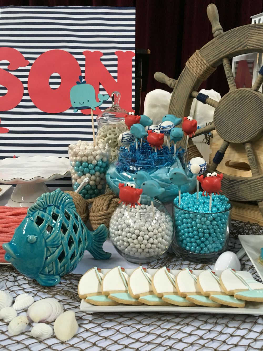 Candy bar nautical theme