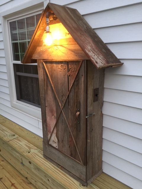 electrical siding box a cute way to hide the electrical box patio inspiration