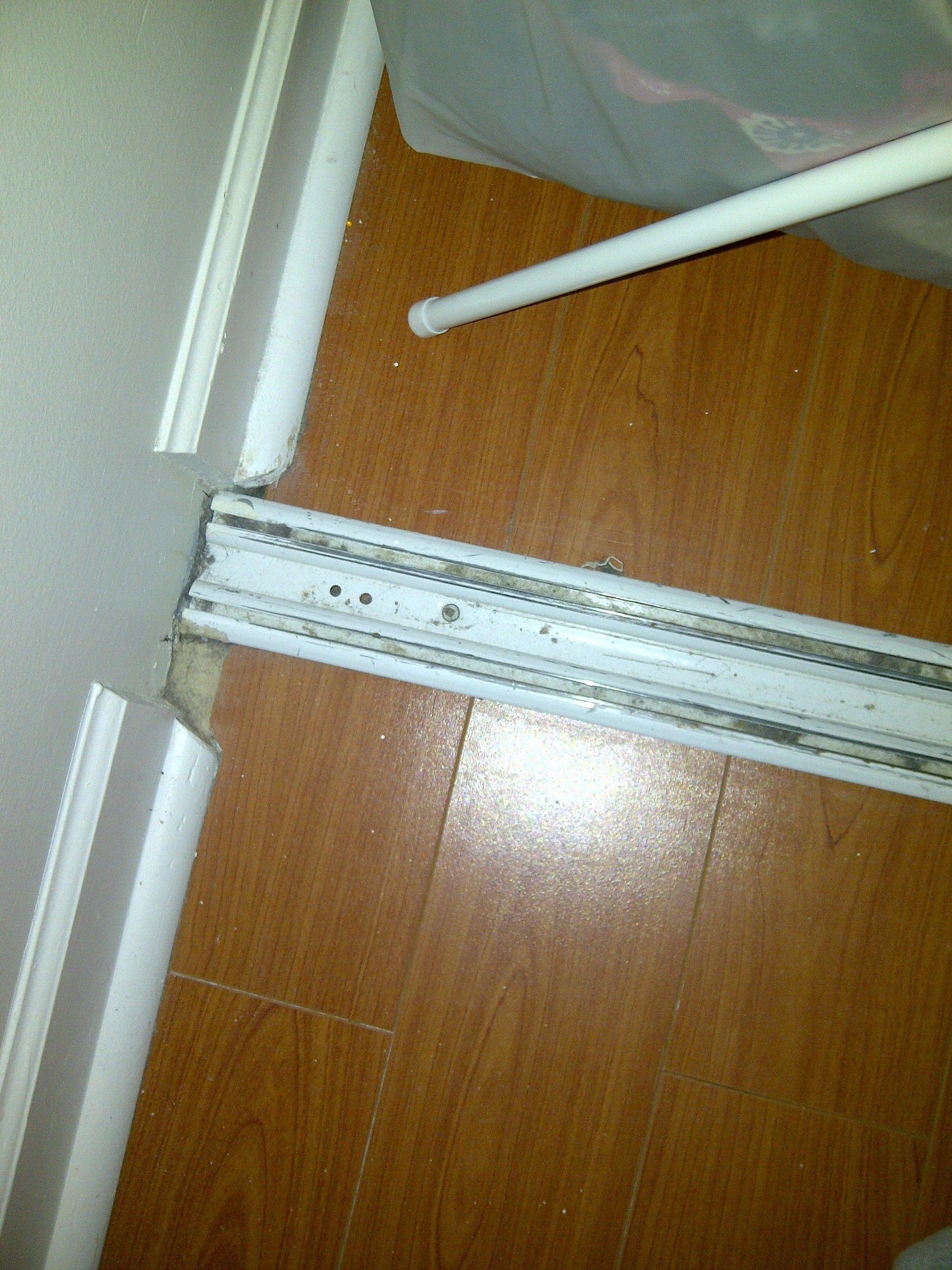 mirrored track sliding doors mirror closet bottom door without