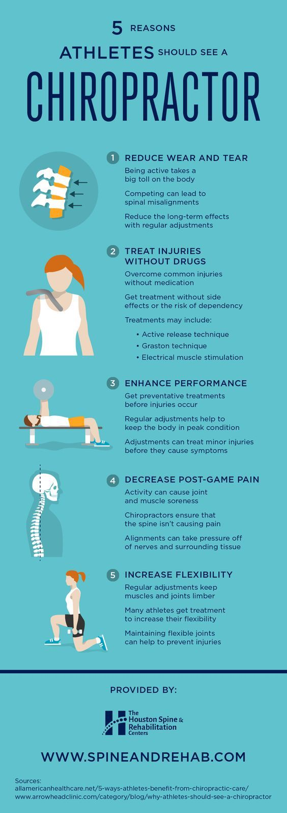 Why athletes she see a Chiropractor. Chiropractic clinic