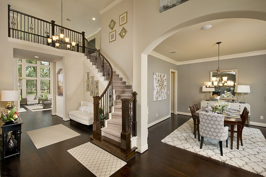 Model Home Foyer Pictures : 4 931 sq. ft. model home foyer and circular staircase sienna