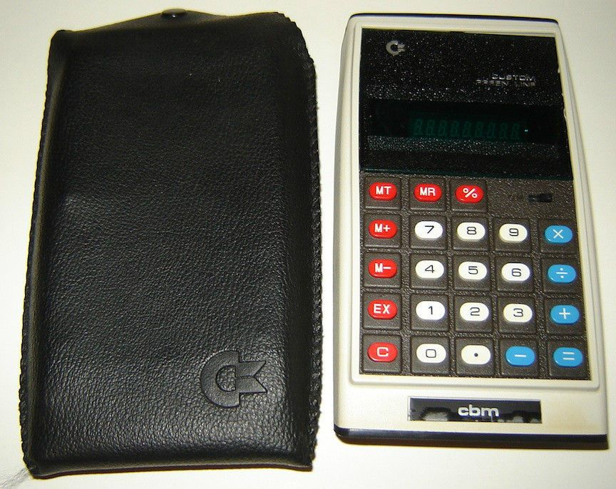 Vintage Commodore CBM Custom Green Line Calculator GL997R with - financial calculator