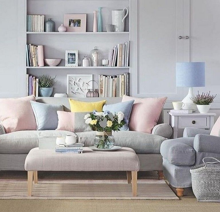 Pin On Apartment #pastel #coloured #living #room