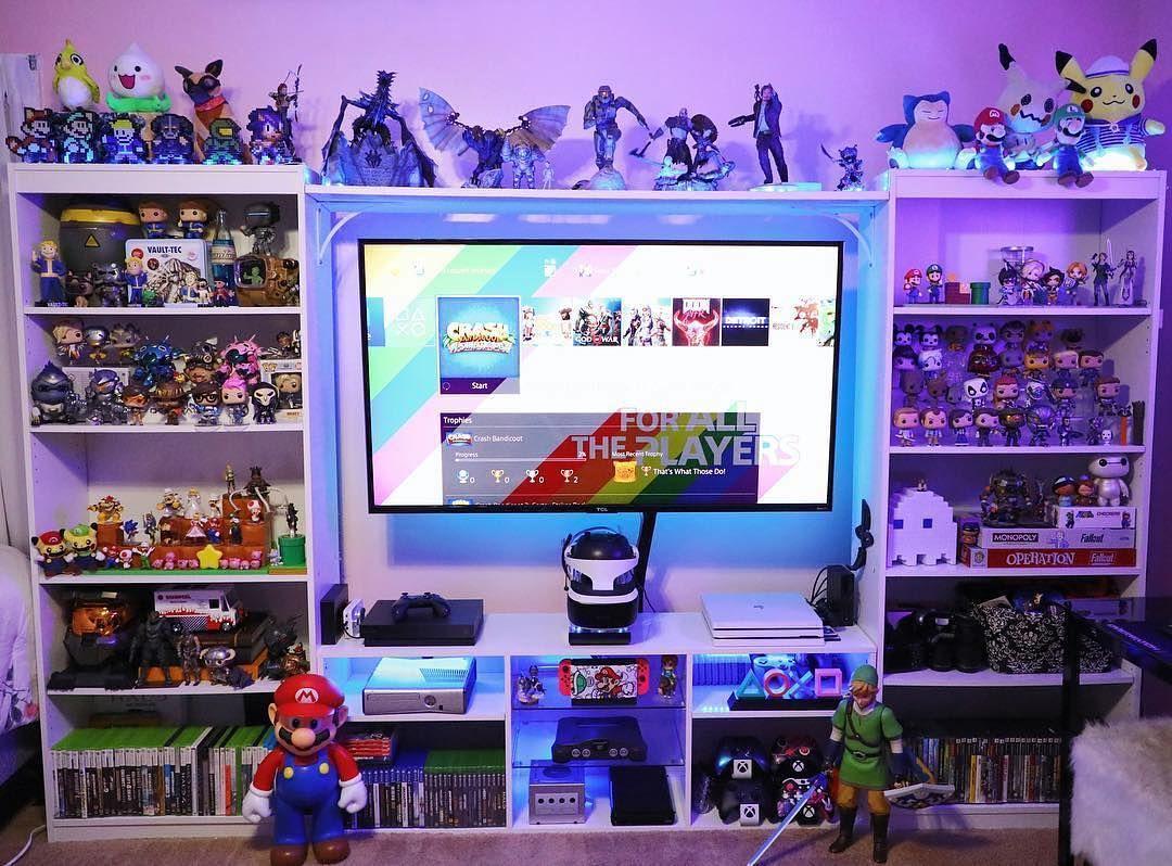 Love this. : @godtessa #gameroom | Gamer room diy, Video game room design,  Game room design