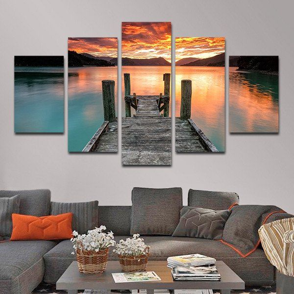 Jump In The Lake Multi Panel Canvas Wall Art Canvas Wall Art Multi Canvas Art Wall Canvas