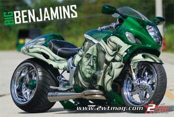 Hayabusa With Benjamins Paint Job Super Bikes Sports Bikes
