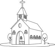 Creative Inspiration Church Clipart Black And White Free
