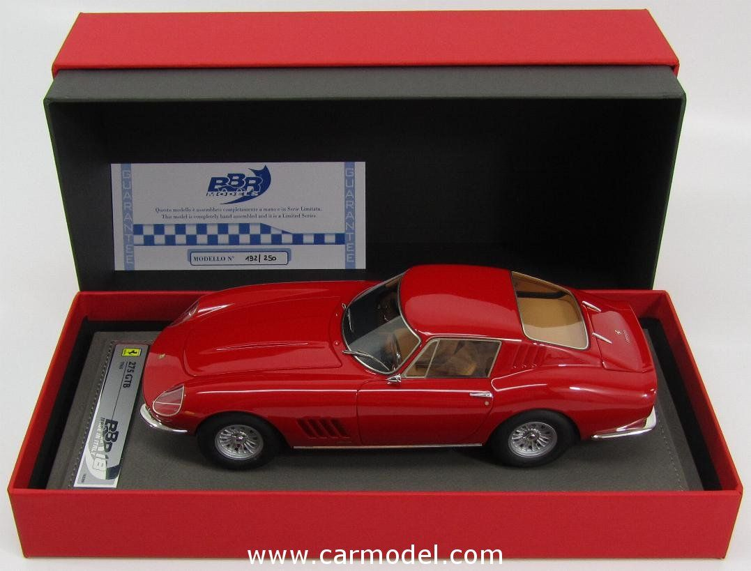 Bbr Models Bbr1805 Masstab 1 18 Ferrari 275 Gtb 1965 Red Ferrari Formel 1 Autos