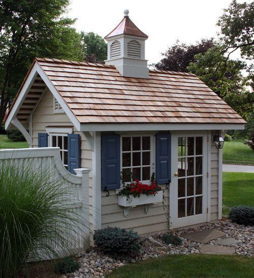 cottage style garden sheds kensington smith about gardensheds gartenh uschen pinterest. Black Bedroom Furniture Sets. Home Design Ideas