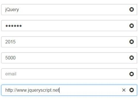 Jquery Plugin To Create Clear Buttons For Bootstrap Inputs Form Input