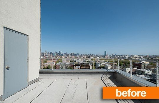 Before After A Roof Deck Transformation Roof Architecture Green Roof System Patio Roof
