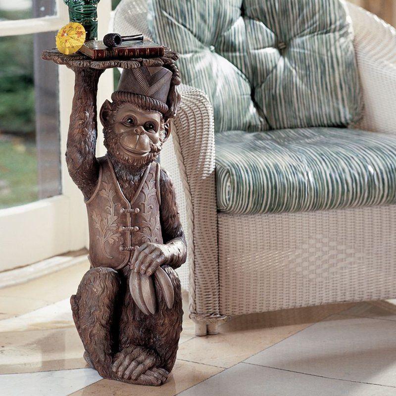 Design Toscano Moroccan Monkey Butler Pedestal #TheMine