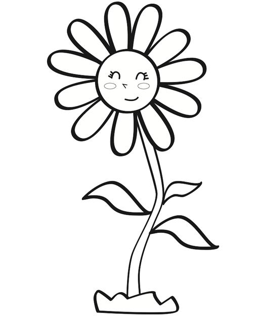 Colorear Margarita Infantil Manualidades Margaritas Dibujo Dibujos Para Colorear Dibujos De Flores