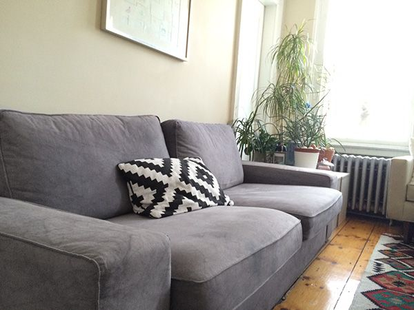 Rit Dyed Pearl Grey Ikea Couch By Ritster Jasmin Chang Via