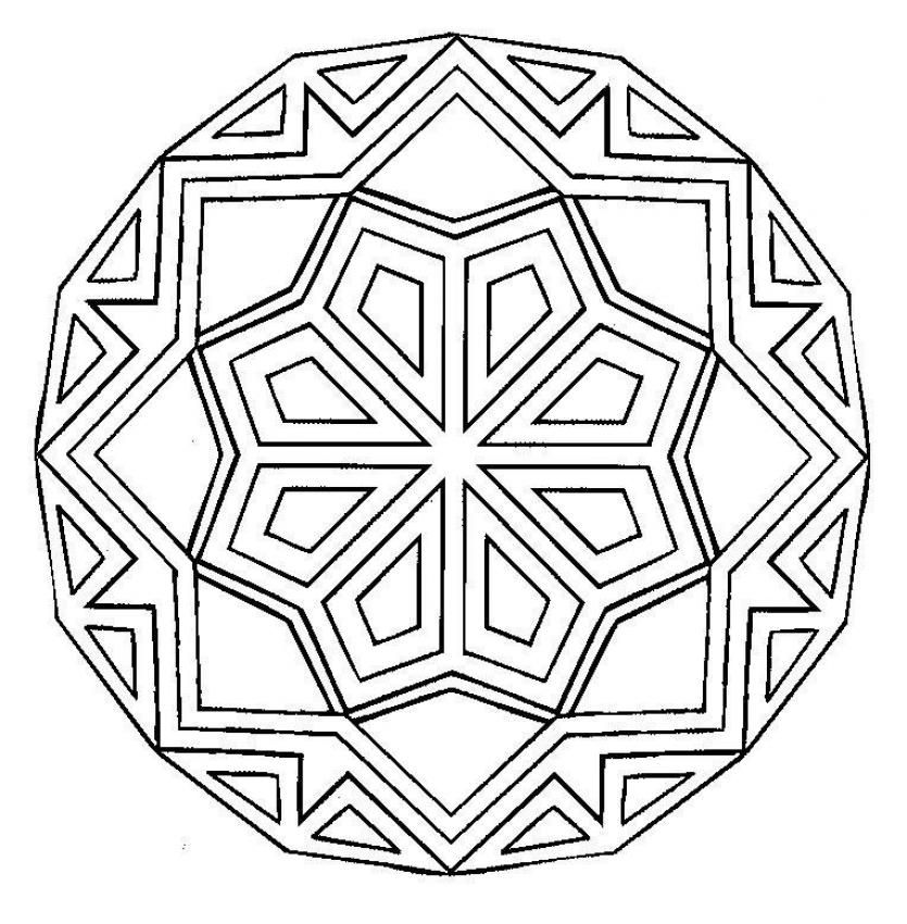 Simple Mandala For Beginner And Kids Free Printable Or Online Coloring Available On Hellokids Geometric Coloring Pages Mandala Coloring Pages Mandala Coloring
