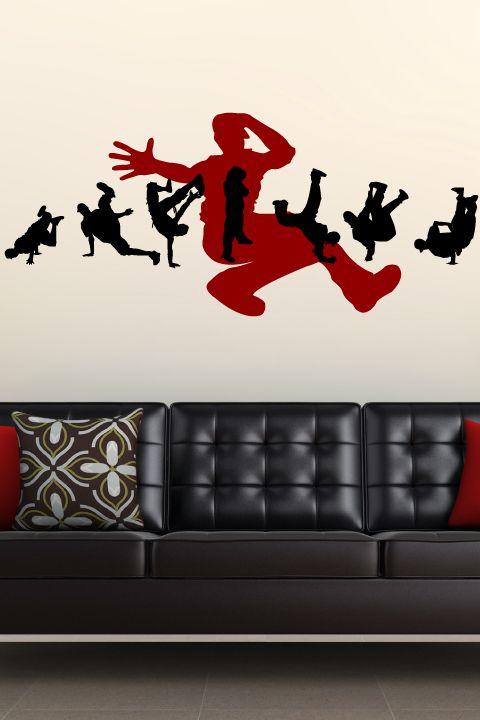 Break dance 1 wall decal by walltat com