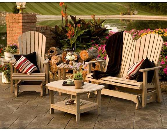 Poly Lumber Recycled Plastic Patio Furniture Made By Amish Craftsmen Will Never Rot Rust Warp Or Need Painting