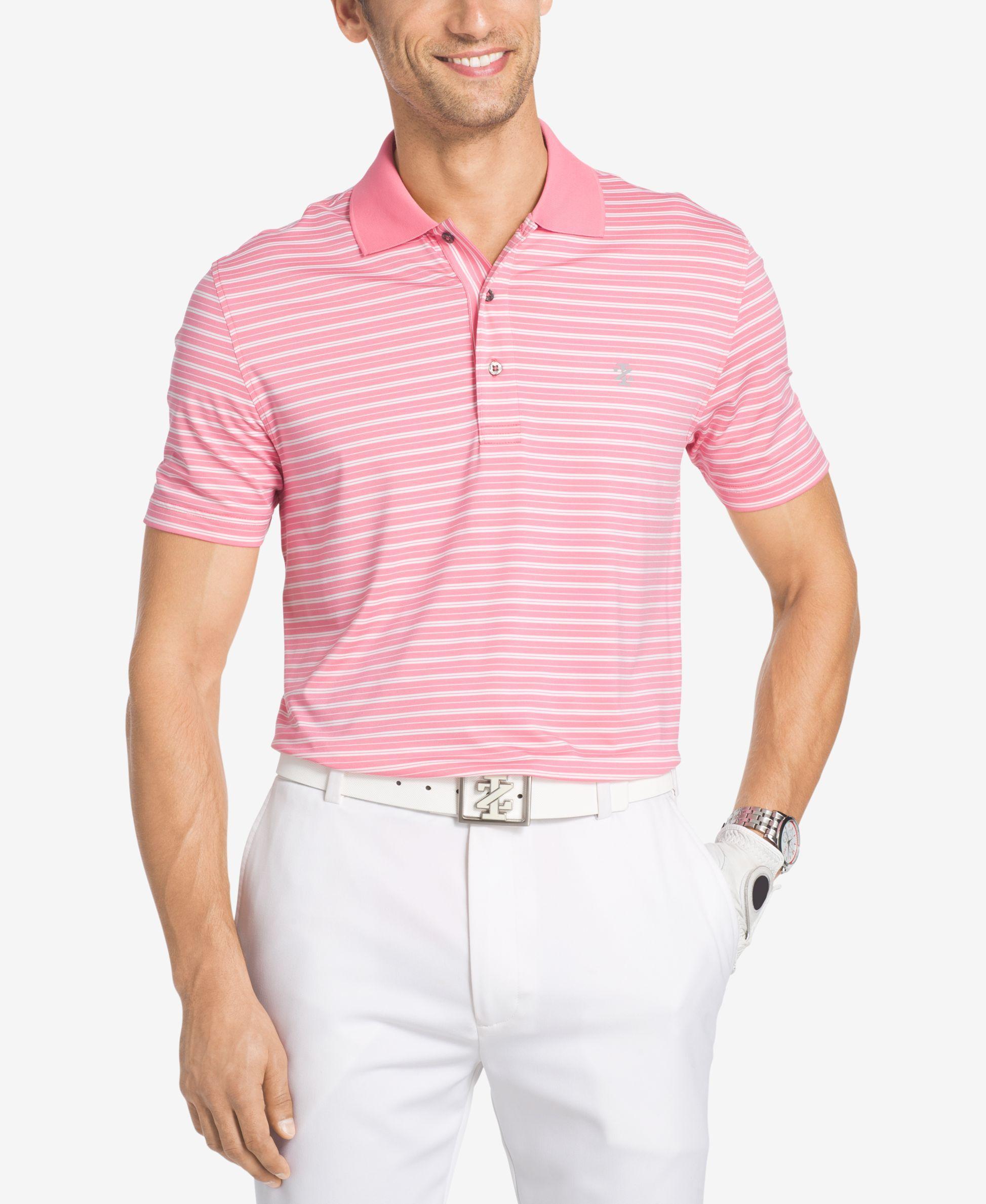 Izod Men's Fairway Striped Polo