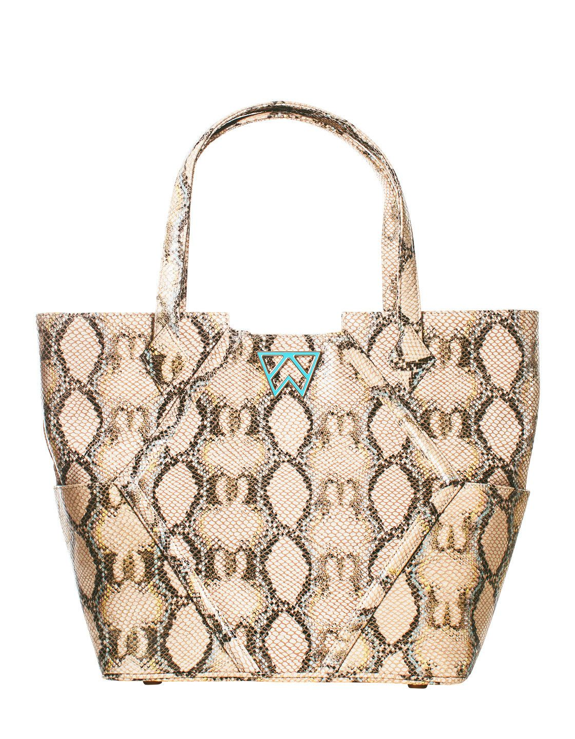 Paint the Town Tote in Turquoise and Caicos