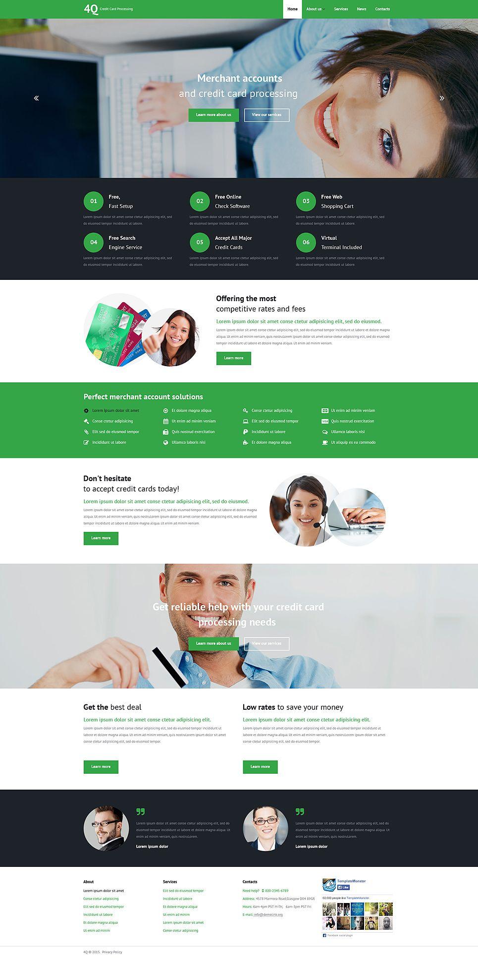 Bank Responsive Website Template   Ideas for Design