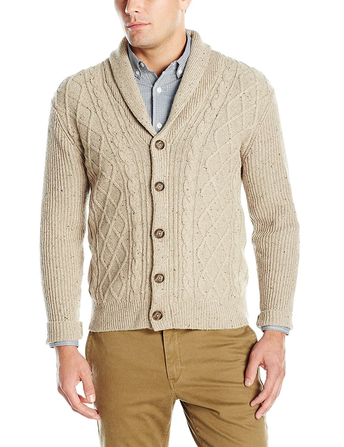 Dockers Men s Donegal Ls Lattice Cable Shawl Cardigan at Amazon Men s  Clothing store  1c0e3b913
