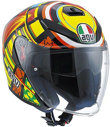Agv K5 Jet Elements Valentino Rossi Helmet Helmet Bike Pic Agv Helmets