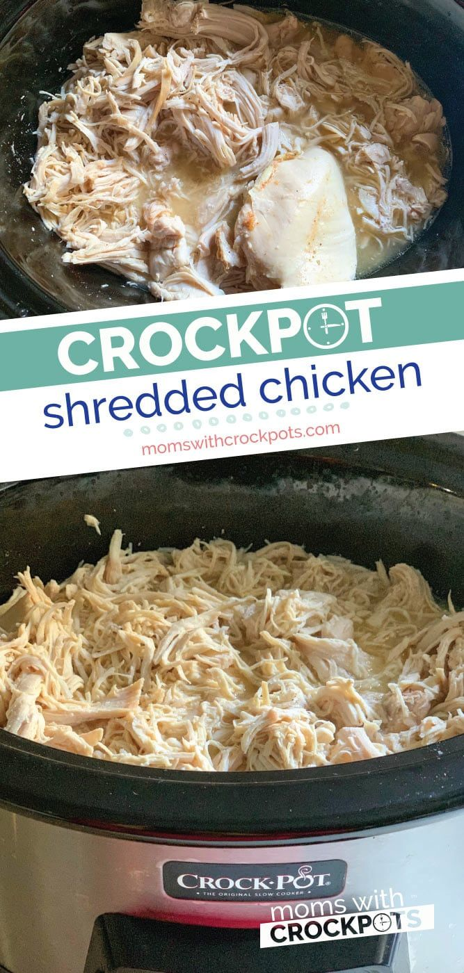 Crockpot Shredded Chicken Recipe - Perfect for Meal Prep