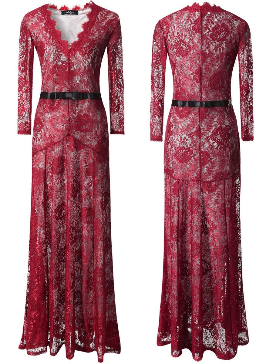 Elegant lace long mermaid evening maxi dress shops lace and mermaids