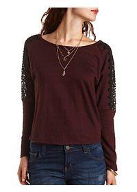 Marled High-Low Sweatshirt