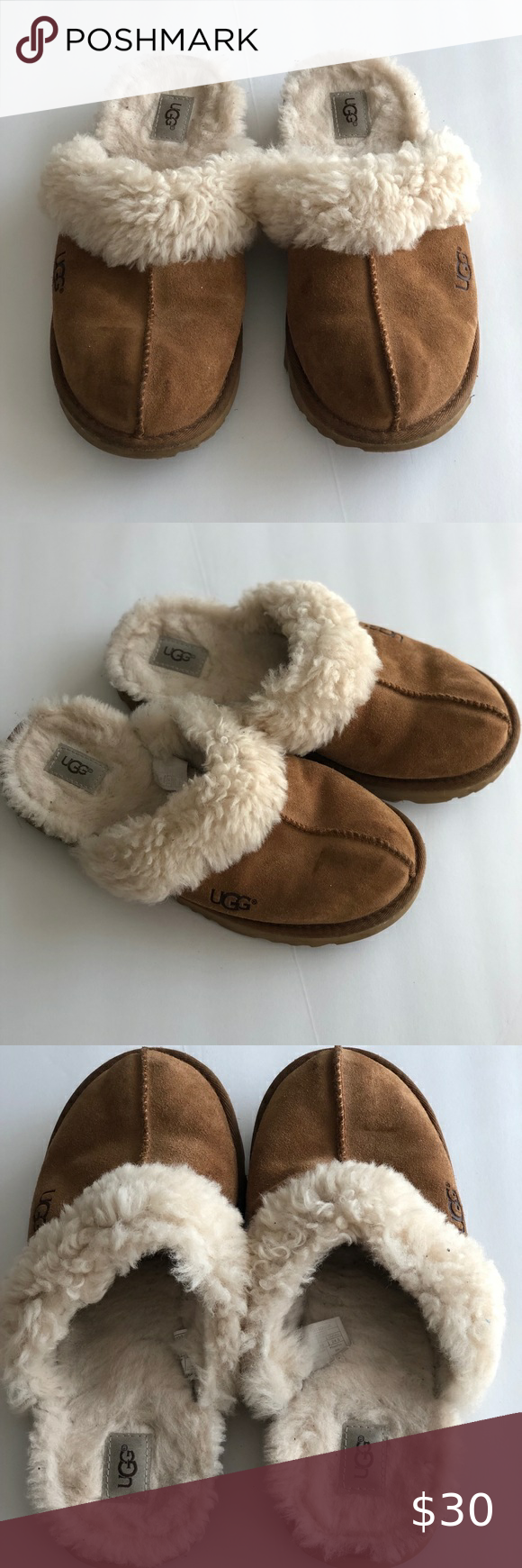 UGG Slippers BIG KID SIZE 6 Used. Does