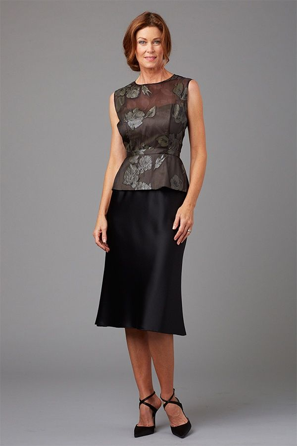 d8815eed296 Siri Spring 2016 mother of the bride dress peplum top and Olympia black  skirt