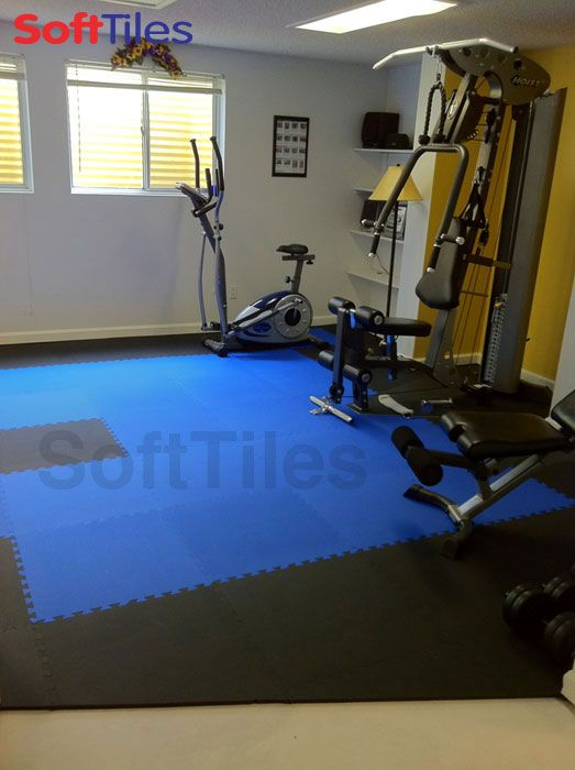 Use softtiles interlocking foam mats to create a soft