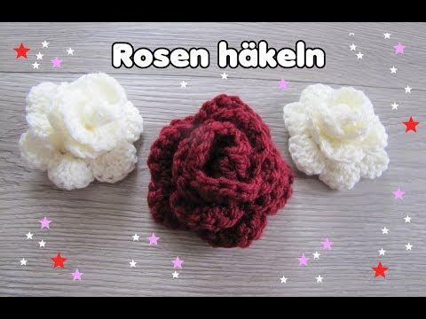 Wunderschöne ROSE häkeln - super einfach! *Carolines Welt* - YouTube ...