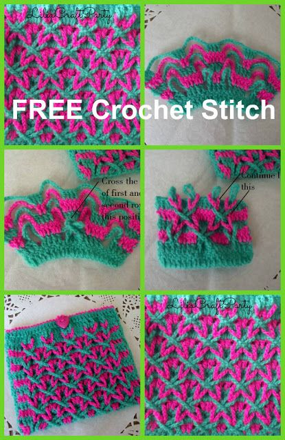 Liliacraftparty Star Crochet Stitch Free Pattern Crochet Group