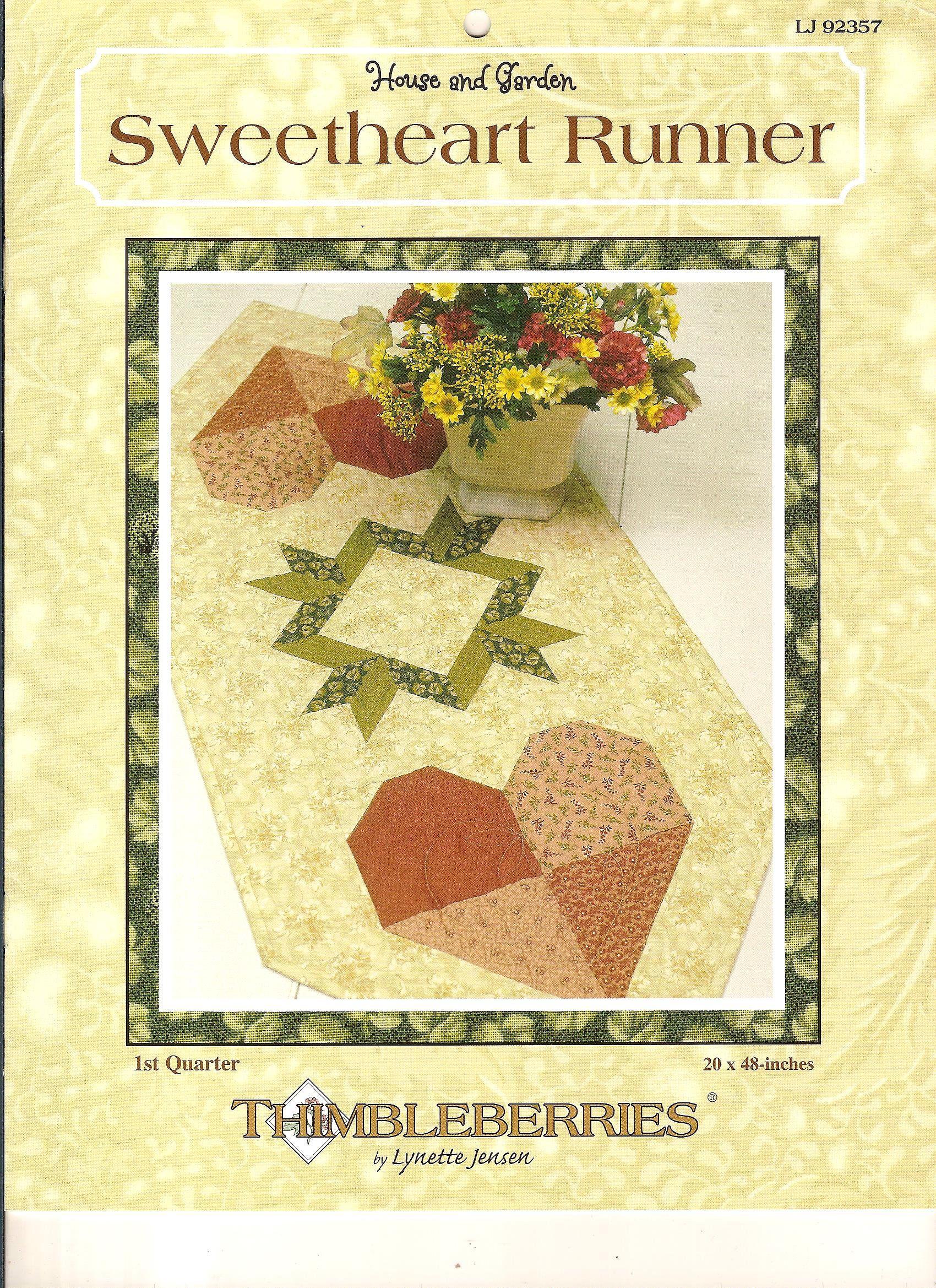 Thimbleberries Sweetheart Runner Pattern Booklet Table Runner By Designer Lynette Jensen House Garden Heart Quilt Coun Quilts Book Quilt Quilt Patterns