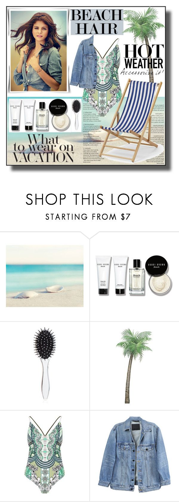 """Perfect Beach Hair"" by asiyaoves ❤ liked on Polyvore featuring beauty, Bobbi Brown Cosmetics, New Look, River Island, Y/Project, Telescope Casual and beachhair"
